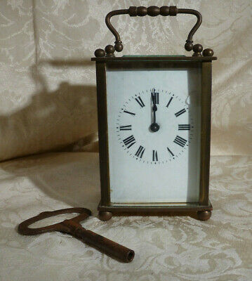 Antique French Brass Carriage Clock CSH Gorge SA Swiss Escapement Spares/Repairs