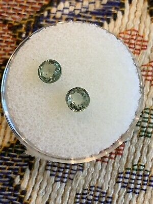 Natural 1ct Green Sapphire Matched Pair Loose Gemstone LOT