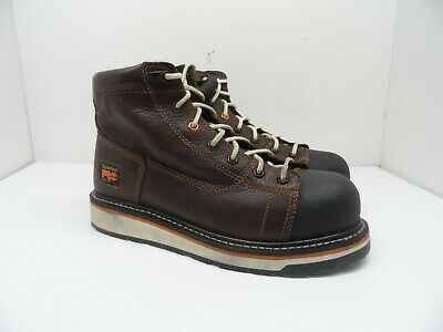 """TIMBERLAND PRO Men's GRIDWORKS 6"""" ALLOY TOE WORK BOOTS A1GNL Brown 9M"""