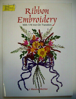 178 Iron-on Ribbon Embroidery transfers Dover book unused floral s