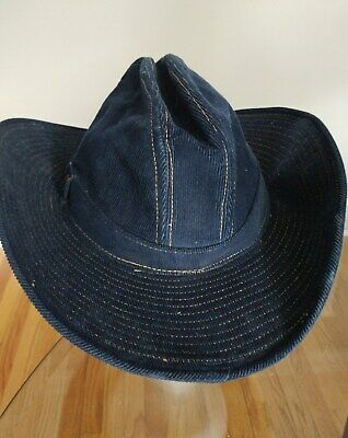 db6d3c74c SIZE 7 VINTAGE Levi Strauss & Co. Medium Small Cowboy Hat Gus canvas ...
