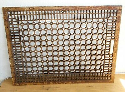Ornate Cast Iron Grate Vintage Wall Floor Register Vent Art Deco Large