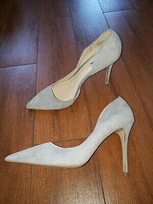 ffa8ce0d900 STEVE MADDEN FELICITY Grey Suede Pumps pointy toe Size 12 women store  display