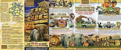 6 West Midland Safari Park maps from 2006,07,08,09,10 and 2011
