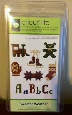 NEW Cricut SWEATER WEATHER Lite Cartridge Shapes Font RETIRED SEALED NOT LINKED!