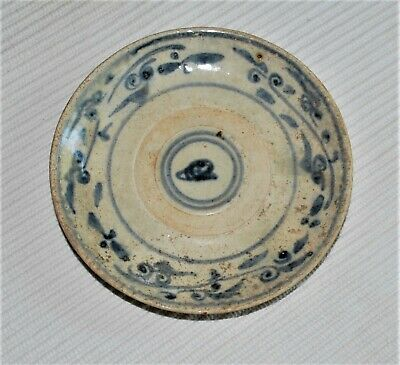 Ancient Chinese Ming Dynasty Small Plate; 14th-17th Century