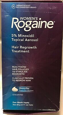Rogaine for Women Hair Regrowth Treatment Foam 4 Month Supply  2.11 oz EXP:02/22