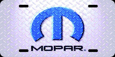 Airbrushed Mopar watercolor art car tag novelty license plate  2