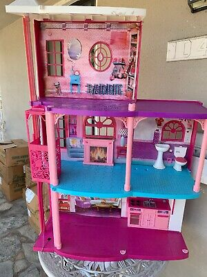 Barbie Dream House 3 Story with elevator Size H42 x W30 Local Pick Up Only Parts
