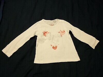 Baby Girls Guess Jeans White Top Size 0 (12M)