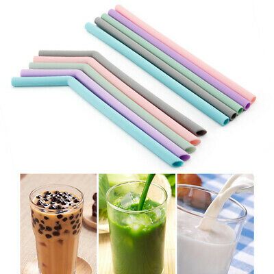 Silicone Drinking Straws +1 Bag Food Grade Reusable Straw Set Party Tableware