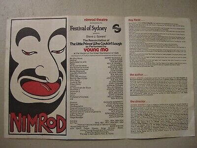 Vintage Nimrod Theatre programme for play starring Gary McDonald
