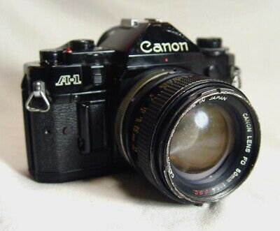 Canon A-1 35mm Film Camera with 50mm F1.4 Lens