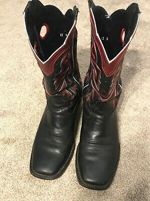 b1919c22c06 ARIAT WILDSTOCK WESTERN Boots Mens 10.5 D Brown Leather Square Toe ...