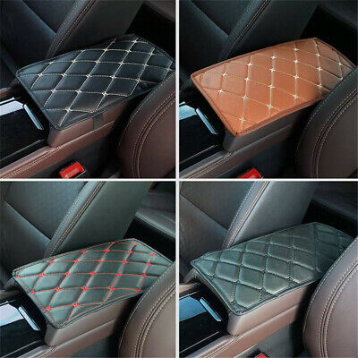 New Universal Car Armrest Pad Cover Auto Center Console Box Leather Cushion Mat