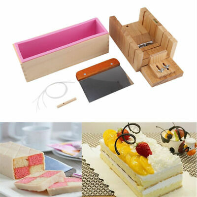 Silicone Soap Mold Box Loaf Cake Maker Cutting Slicer Cutter Making Tool Ace