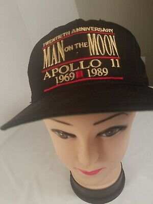 Apollo 11, 20th Anniversary Hat MAN ON THE MOON 1969-1989 Official space Gear