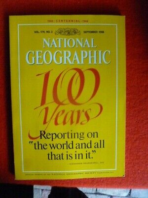 100th YEARS edition  NATIONAL GEOGRAPHIC EDITION VOL.174 no.3 SEPT 1988