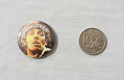 Vintage Bruce Springsteen Button Badge / Pin
