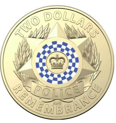 2019 Australian 2 Dollar Coin - NATIONAL POLICE REMEMBRANCE DAY - UNCIRCULATED