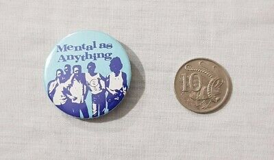 Vintage Mental As Anything Button Badge / Pin