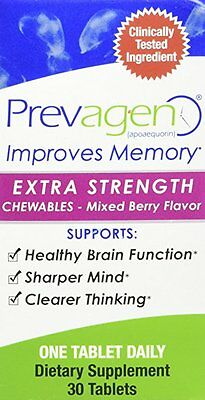 Prevagen Extra Strength Chewables Mixed Berry Flavor 30 Tablets 20MG