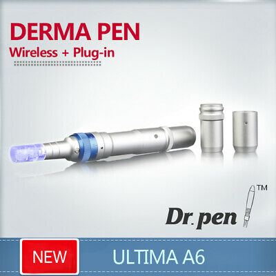 Wireless Ultima A6 Electric Derma Pen Micro Needle Stamp Dr.PEN+2PCS 12Needles
