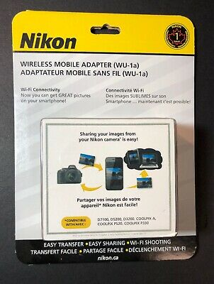 Official Nikon Wireless Mobile Adapter WU-1a NEW