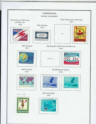 yugoslavia postal tax stamps 70s stamp page ref 18313