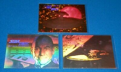 1992 Star The Trek Next Generation Gold Hologram 05H & Silver Holograms H2,H4