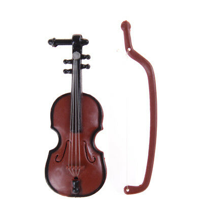 1:12 Dollhouse Miniature Violin Musical Instruments Collection DIY Decor Gift FY