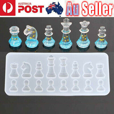 International Chess Silicone Pendant Jewelry Mold Resin Epoxy Casting Mould Tool