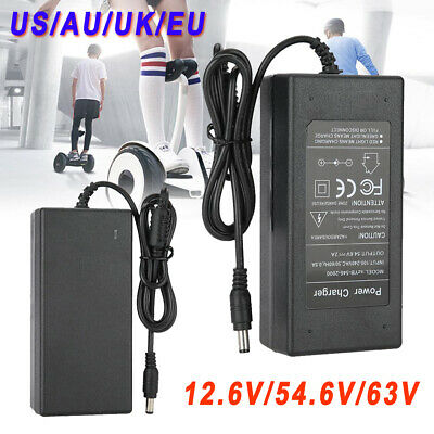 12.6V 42V 54.6V 63V 1.1A 2A 5A AC Power Supply Adapter For Balancing Scooter