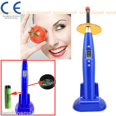 Blue 5W Wireless Dental Cordless New Design LED Curing Light Lamp 1500mw FDA CE