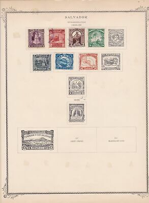 salvador stamps page ref 17170