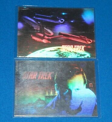 1991 Star The Trek Silver Hologram Insert Cards H1 & H3