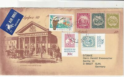 australia sydpex 80 air mail stamps cover ref 20650
