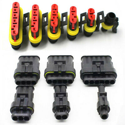 Wire Connector Plugs Car Sealed Waterproof Plastic & Metal For motorcycle Latest
