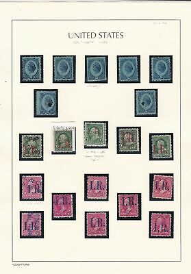 United States 1875 Revenue Stamps on Page  ref 22868