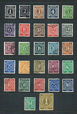 GERMANY (ALLIED OCC.) _ 1946+ 'NUMERAL' SET of 27 _ mh-used ____(597)