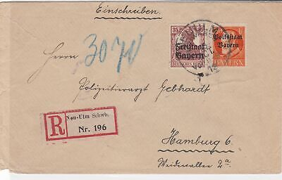 bavaria 1919  stamps cover ref 21313