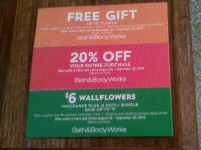 Bath & Body Works Coupons: Up to $6 gift, 20% off & $6 Wall Flowers Fragrance