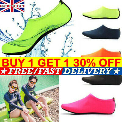 Women Men Water Shoes Aqua Socks Diving Socks Wetsuit Non-slip Swim Beach BK