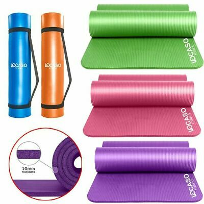 Large 15mm Thick Yoga Mat for Pilates Gym Exercise Non Slip With Carrier Strap