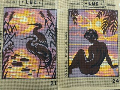 Tapestry - Printed Canvas x 2 - Made in France - LUC