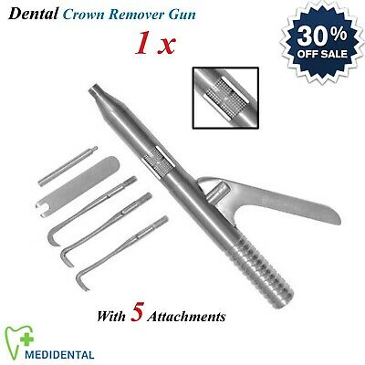 1 x Crown Remover Gun With Attachments Crown Bridge Removal Dental Instrument CE