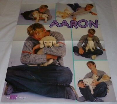 Aaron Carter Teen Magazine Poster 2001/2002 Another Earthquake! Puppies M Mag