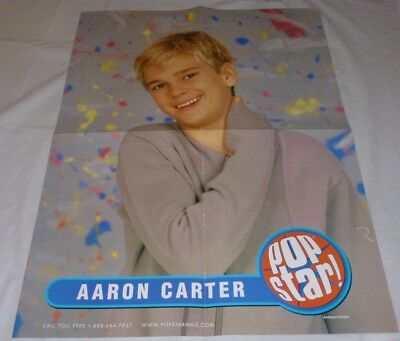 Aaron Carter Teen Magazine Poster 2000 Aaron's Party Young Boy Cute Smile
