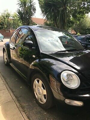 VW Beetle TDI 2002 model, 3 door, very low mileage, black, extremely reliable.