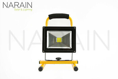 Narain Lighting 20W LED Outdoor Rechargeable Floodlight - (Rechargeable Battery)